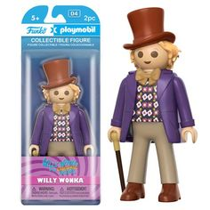 (affiliate link) Willy Wonka and the Chocolate Factory Wonka 7-Inch Playmobil Action Figure