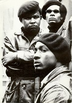 Black Panthers in Defermery Park, Oakland, CA (1968)