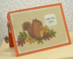 Nuts for You Card - Nichole Heady - Papertrey Ink