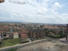 A great view of Nairobi's southlands with Ngong Hills in the far background