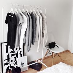 Clothes rack (but a bit too expensive chair for me!)