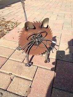 Cat - Recycled Garden Yard Art Sculpture | eBay!
