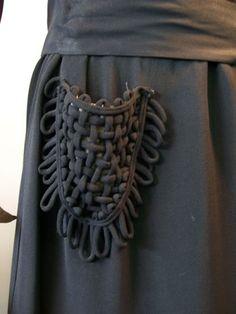 woven pocket, 1940s dress