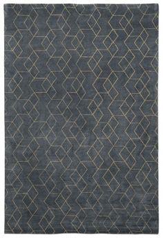 Hex Blue rug - love this geometric pattern rug in blue   //   Luke Irwin Rugs