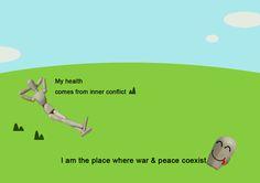 싸울수록 평화롭다   복사 http://buddha-on.net/220277738061   내 속에서 항원과 항체들이 치열하게 싸울수록  난 건강하다. 둘이서 화해를 하면  내가 죽는다. 전쟁과 평화가 함께 사는 곳, 바로 나