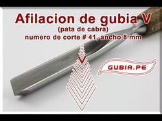 Afilacion Completa Gubia V | corte # 41 | pico de gorion | marca NAREX
