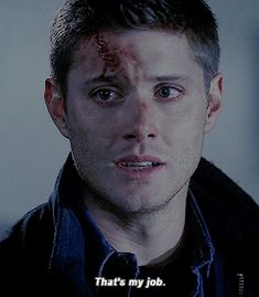 """""""That's my job."""" Tears welled up as I held the angel blade to my chest, the demon inside me trying to take over. """"Dean...""""I whimpered before stabbing the blade through me. """"NO!"""""""