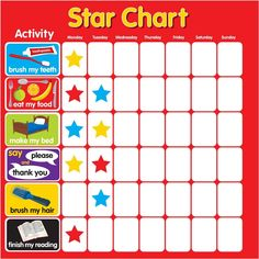 This set of free and printable star reward chart will help you to fix your kids' behavioral issues. Some parents have proven that using a sticker chart has a good positive reinforcement tool to encourage positive behavior. Reward Chart Template, Printable Reward Charts, Reward Chart Kids, Kids Rewards, Chore Chart Kids, Printable Tabs, Star Chart For Kids, Charts For Kids, Positive Behavior