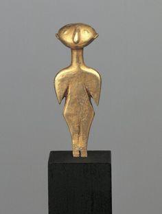 Electrum Kilia type idol. Anatolian. Late 4th – 3rd millennium B.C.   Phoenix Ancient Art Gallery
