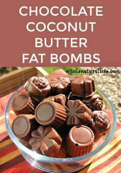 Coconut butter fat bombs | Coconut butter recipes | Coconut butter desserts | Chocolate coconut butter