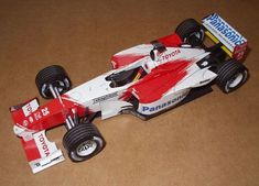 F1 Paper Model - 2002 Toyota TF102 Paper Car Free Template Download - http://www.papercraftsquare.com/f1-paper-model-2002-toyota-tf102-paper-car-free-template-download.html