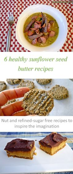 6 healthy sunflower seed butter recipes - all gluten and dairy-free, Paleo-friendly and without any refined sugar!