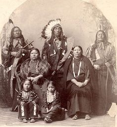 Fool Thunder and family. Hunkpapa Lakota. 1880