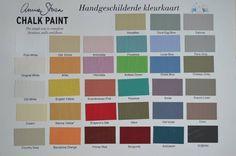 Kleurenkaart Annie Sloan Chalk paint www.arthomeandliving.nl