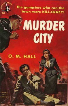 Frank McCarthy: Murder City by O.M. Hall/ Pocket Book 828, 1951