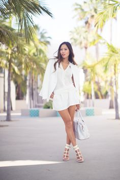 All White song of style Song Of Style, White Fashion, I Love Fashion, Curvy Fashion, Girl Fashion, Fashion Mode, Fashion Outfits, Fashion Shorts, Street Fashion