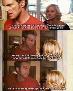 You dumb, stubborn, red-neck hick ~ Sweet Home Alabama (2002) ~ Movie Quotes #amusementphile