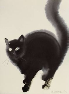 "Saatchi Art Artist Endre Penovác; Painting, ""Kitty"" #art"