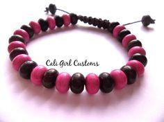 Hemp bracelet - ceramic beads - beaded jewelry - hemp jewelry - girlfriend gift - summer bracelet by CaliGirlCustoms on Etsy