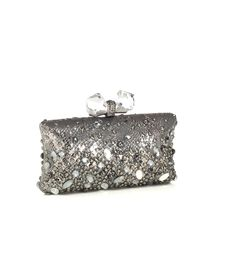 Judith Leiber Clutch in Metallic Leather