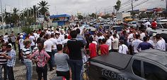 Protesto da Telexfree no Recife (Foto: Katherine Coutinho / G1)