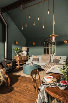 home living room colors ~ home living room ; home living room modern ; home living room cozy ; home living room colors ; home living room small ; home living room ideas ; home living room grey ; home living room modern interior design House Design, Living Room Green, Interior, Home Decor, House Interior, Living Room Ceiling, Interior Design, Living Decor, Home And Living