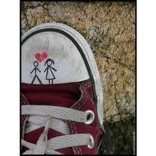 b58159e29698 Young Love Shoe art - so typical! Converse Hi