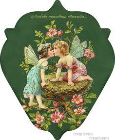 Images Victoriennes, Decoupage, Fairy Pictures, Valentine Treats, Vintage Valentines, Vintage Ephemera, Scottie, Scrap, Christmas Ornaments