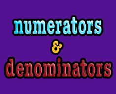 Numerator and denominator fraction song ... LOTS of other great math songs too!!