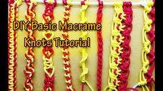 How to tie the basic knots of Macramé - Basic macrame knots for Beginner...