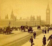 Panorama Londynu z widokiem na Big Bena i Parlament.