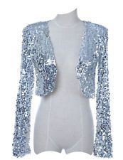 b889883d93a Women Sequin Jackets Cocktail 1920s Flapper Top Gatsby Costume Evening  Disco 30s