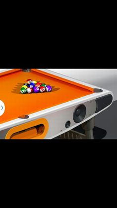 Futuristic Pool Table Doubles As Giant, Orange Boom Box