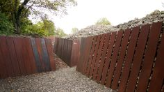Corten steel retaining/fencing looking great.