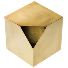 Cubist Brass Sculpture after Paul Evans | From a unique collection of antique and modern side tables at https://www.1stdibs.com/furniture/tables/side-tables/