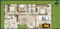 Analizaremos varios modelos de casas de un piso que cuentan con tres dormitorios y que han sido construidas en pequeños y medianos terrenos, diferentes soluciones en planos de planta y fachadas con…