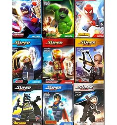 9 Sets Super Hero Series Minifigures Thor Hawkeye Captain America Ecofriendly Plastic No Box 101109 ** Read more  at the image link.