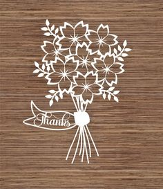 Thanks PDF SVG Instant Download Digital Papercutting by ArtyCuts