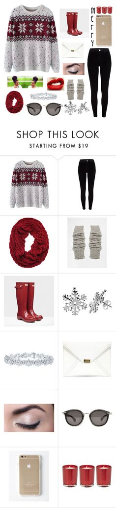 """jolly?"" by saraye ❤ liked on Polyvore featuring Chicnova Fashion, River Island, Free People, Hunter, Harry Winston, McQ by Alexander McQueen, Moncler and Linea"