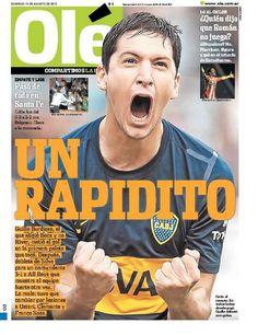 Domingo 19 de Agosto del 2012. http://www.ole.com.ar/la-tapa/