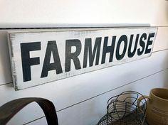 Farmhouse Sign   Farmhouse Decor  Wood Signs  Fixer Upper