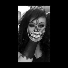 Bodypaint skull hand tattoo idea by Me.. Follow me on Instagram - tinileak92