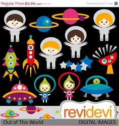 55 OFF Out of This World Clipart 07378.. Commercial by revidevi, $2.68