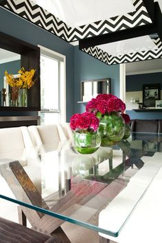 nice 67 Lovely Glass Table Dining Rooms Ideas  https://about-ruth.com/2017/10/03/67-lovely-glass-table-dining-rooms-ideas/