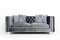 New Deep Inside Out Sofa in Charcoal Velvet | ModShop