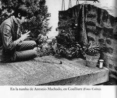 En la tumba de Antonio Machado