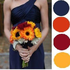Here is a lovely color scheme that will look amazing with the fall foliage that is beginning to show here at Heritage Park. Contact us today to take a tour! www.heritageparkevents.com #heritageparkevents #fallweddings #navycolorscheme #fallcolors #smokymountains #colorschemes
