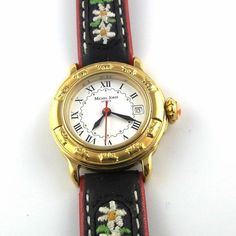 Eingebetteter Bild-Link Edelweiss, Vintage Watches, Leather, Accessories, Link, Swiss Guard, Ornament