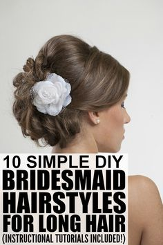 If bridesmaid duty is putting a strain on your wallet, check out this FABULOUS collection of DIY bridesmaid hairstyles for long hair. They are not only easy to replicate, but can also be recreated for free from the comfort of your own home. Full tutorials included. Good luck!
