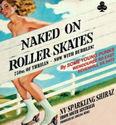 some young punks - naked on rollerskates shiraz
